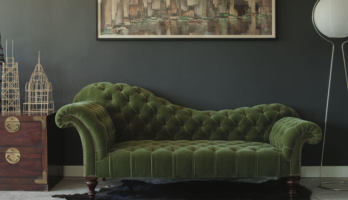 George Smith is found in Suite 14-110. George Smith offers a diverse collection of modern and traditional upholstered sofas, chairs, chaises and stools.
